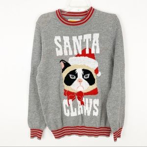 Tipsy Elves ugly cat Christmas sweater